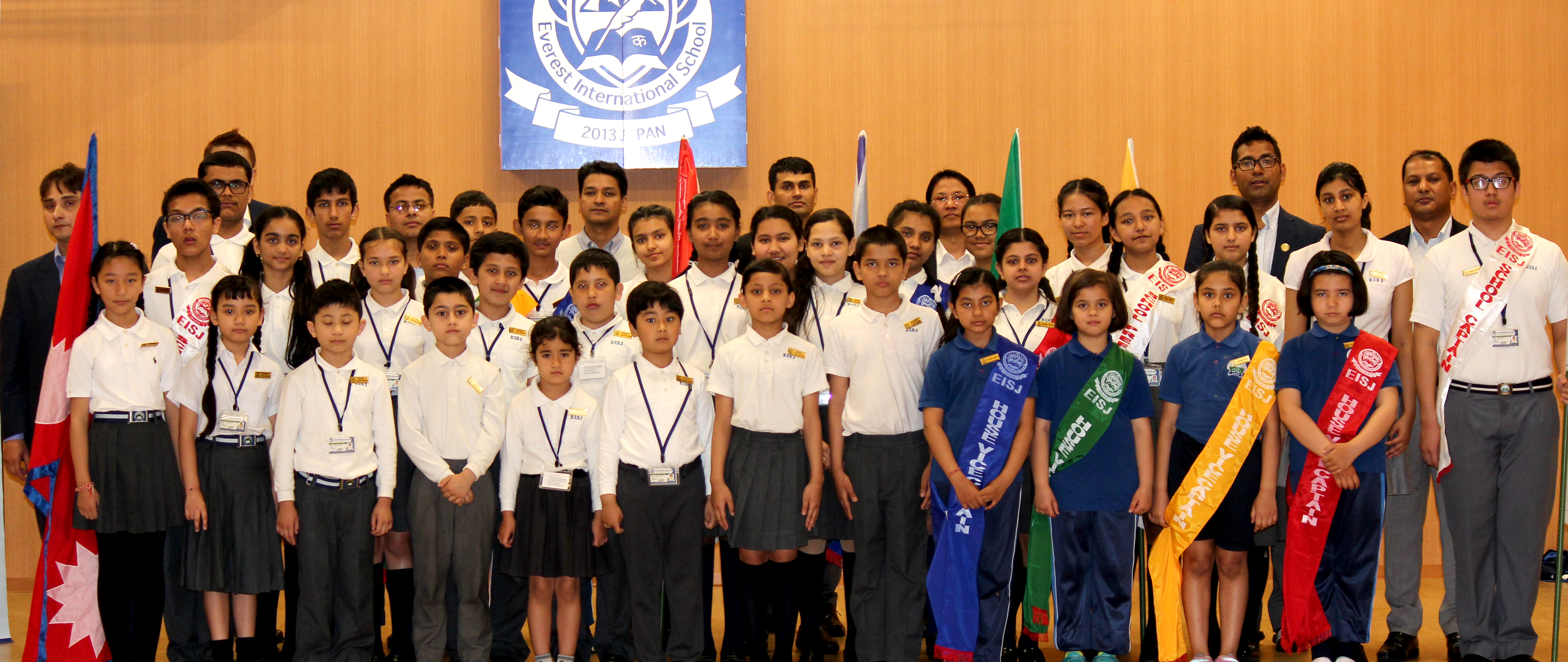 School students with Chairman, Principal, Vice Principal and Teachers